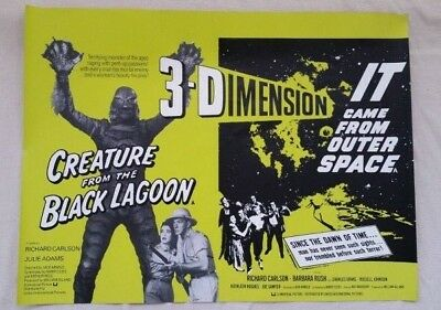 *uk Quad* Creature From The Black Lagoon / It Comes From Outer Space Movie...