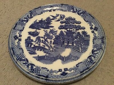 Vintage blue willow hollow plate by poutney  and co. Ltd. Bristol