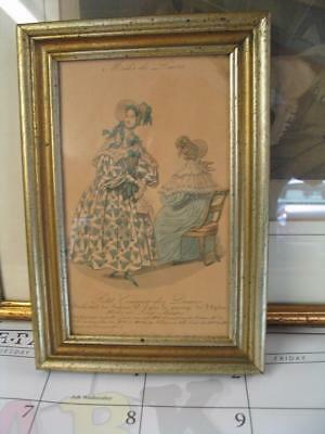 Antique Framed Book Plate Fashion Print