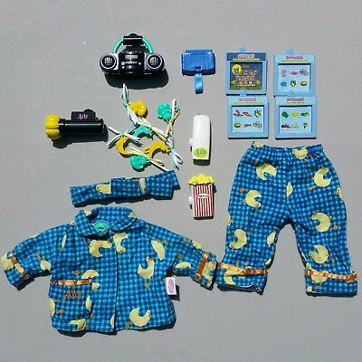 Amazing Ally Doll Interactive Slumber Party Accessory Lot Pajamas Cartridges