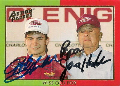 Jeff Gordon PAPA JOE HENDRICK ACTION PACKED NASCAR #24 CHEVY autographed card