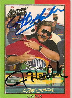 Jeff Gordon Rick Hendrick 1994 PRESS PASS CHAMP/CHALLENGER HOF autographed card