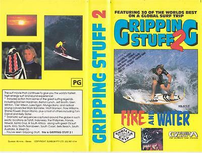 Surfing  Gripping Stuff  2 Vhs Video Pal~ A Rare Find