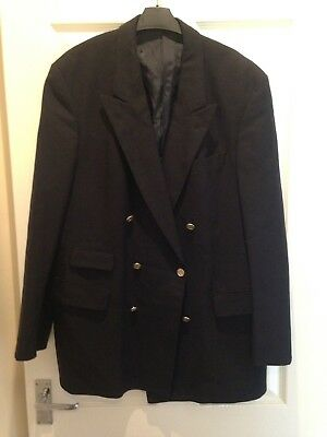 "Burberry VINTAGE Men's chest size 54"" tailored blazer jacket blue double breast"