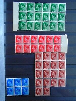 GB KEVIII Collection of Serial Margin Blocks MNH