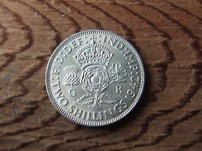 George Vi.   1942, Silver Florin.      Near Mint Condition.