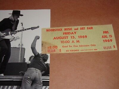 WOODSTOCK FRIDAY 1969 TICKET Jimi Hendrix Janis Joplin Grateful Dead Santana 166
