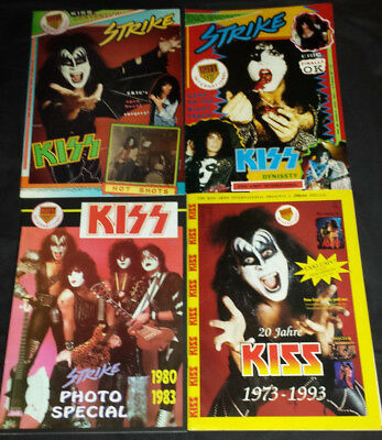 Kiss: 4 strike fan club mags 90's (photo special)
