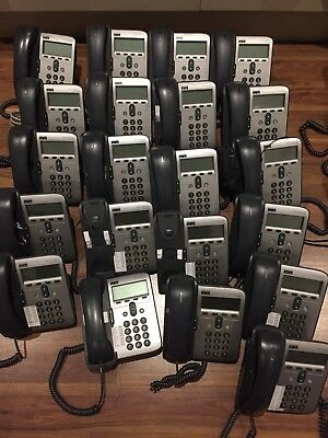 Job Lot 21 X Cisco 7912 VoIP Phones With Stands - Good Condition