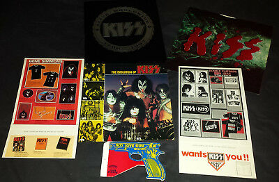 Kiss: 1996-97 tour book & record inserts order forms love gun