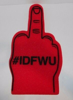 BIG SEAN Play No Games Promotional Red Foam Finger Novelty Item Hashtag IDFWU