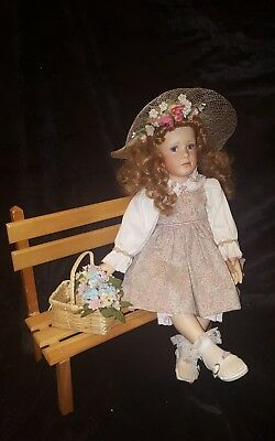 Rare Caroline Pamela Philips Bench Seated Doll Porcelain Collectors 1 Of 100