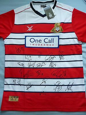 Doncaster Rovers Signed Shirt x19 - Football Autograph, 2017/18, Coppinger, May