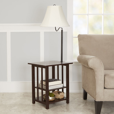 Better Homes And Gardens 3-Rack End Table Floor Lamp, Espresso Finish *NEW*