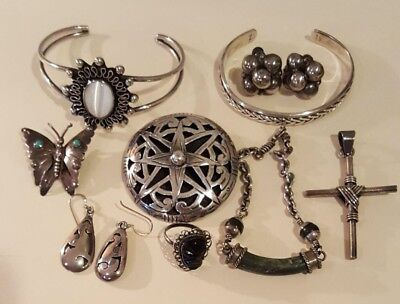 Vintage Sterling Silver Jewelry Lot - Mexico - 925
