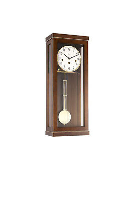 (New!) CARRINGTON (Walnut) Wall Regulator Clock Hermle mechanical 70989-030341