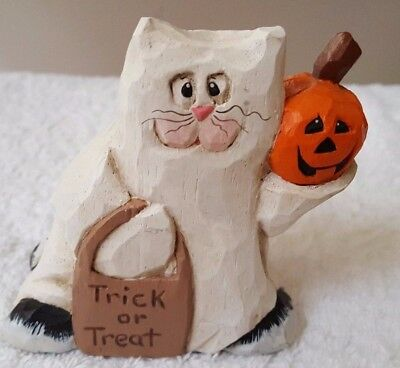 Midwest of Cannon Falls Eddie Walker Trick or Treat Cat Halloween Figurine