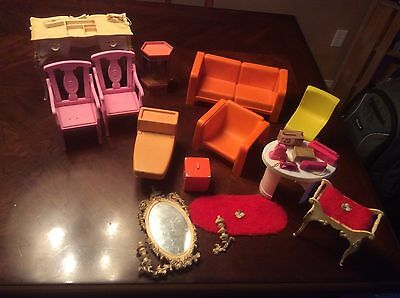 Lot of 1960s and 1970s barbie furniture