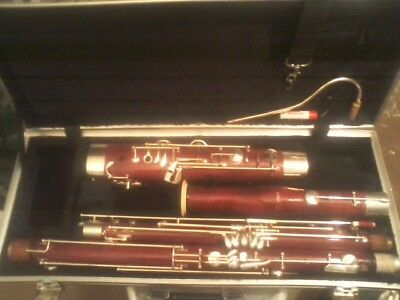 NICE PLAYING AMATI ABN-41 WOOD BASSOON HIGH D BOCAL Extra Rollers READY TO PLAY