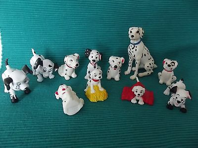 Disney 101 Dalmation Pvc Dog Figures 2 Have Moveable Legs