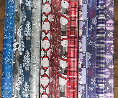 Multi-Pack Christmas Holiday Foil Wrapping Paper Red & Silver