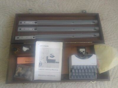 GRITZNER LEGEND LETTERING TYPEWRITER MACHINE GERMANY  Rare Collectible