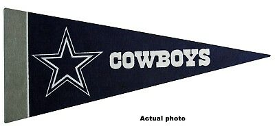 "New  NFL Dallas Cowboys Mini Pennant 9""x4"" (22 x 9 1/2 cm) Made in USA Banner"