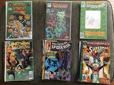 LARGE Lot Of 20 Comics, 1990-1999 Spider-Man, Batman, Spawn, Marvel/DC