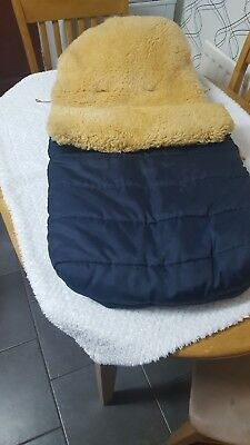 sheepskin cosy toes for pushchair