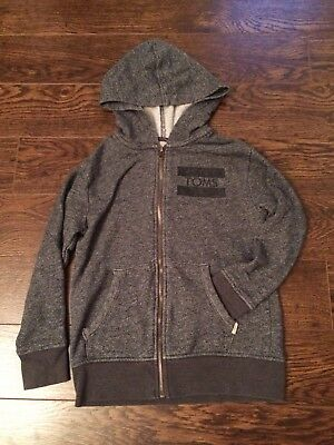 Kids TOMS Zip Up Hoodie Sweater Grey Size 6/7