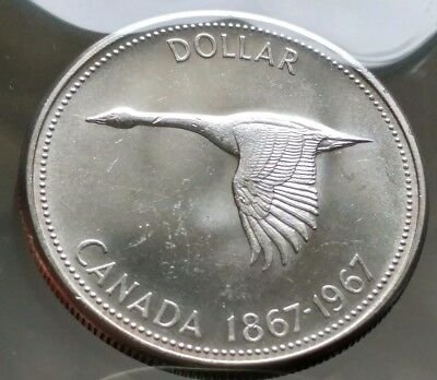1967 Canada Silver Dollar Coin - Sealed in Acid-Free Package - 80% Silver - H6