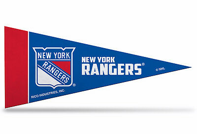 "NEW NHL New York Rangers Mini Pennant  9""x4"" Made in USA Banner Flag"