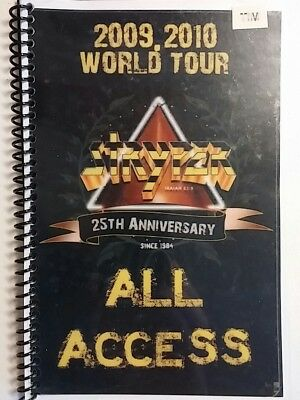 Stryper - 2009/10 Band Us 25Th Anniversary Tour Itinerary - Rare - Autographed