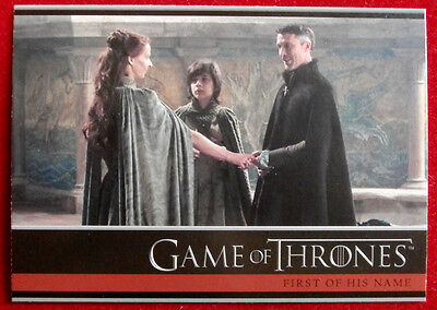 GAME OF THRONES - Season 4 - Card #13 - FIRST OF HIS NAME A - Rittenhouse 2015
