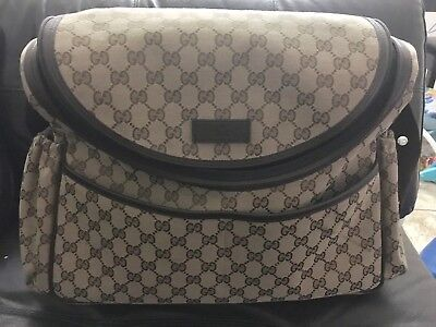 Authentic Gucci Canvas Baby changing Bag