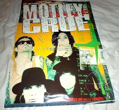 MOTLEY CRUE~Promo Poster~Original 1994~Excellent Condition~20x30~Hooligans