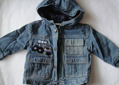 Boys Denim Jacket Size 00 3-6 Months