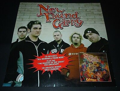 NEW FOUND GLORY~Catalyst~Original Promo Poster~12x12~NM Condition~2004
