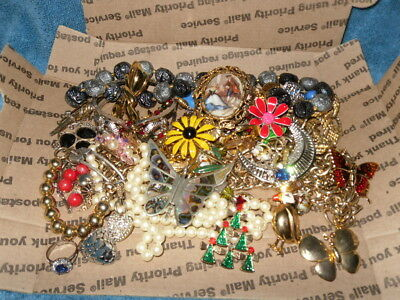 Vintage to Now Jewelry Lot Estate Find  NO JUNK DRAWER LOT RINGS CAMEO UNTESTED