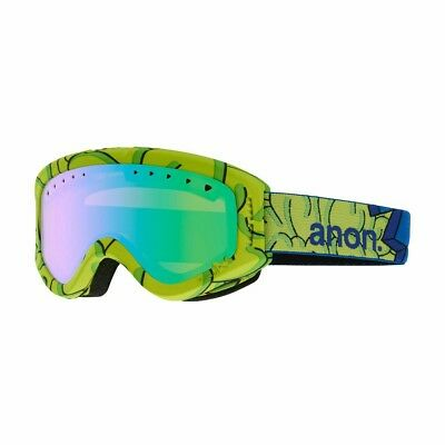 Anon Tracker Goggles Brain / Green Amber One Size Youth Ski Snowboard Small Snow