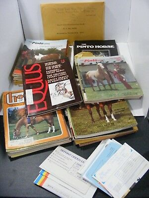 Huge Vintage Horse Magazine Lot 1973-1978 The Pinto Horse plus Extras 41 issues