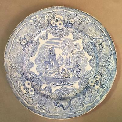 Very old Vintage Antique Blue & White China Plate Willow Pattern