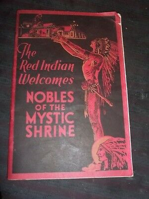 """1924 Canadian Travel Guild """"The Red Indian Welcomes Nobles of the Mystic Shrine"""""""