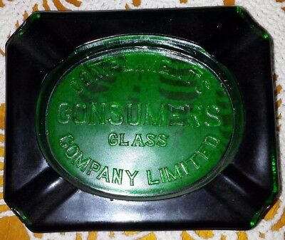 Vintage Consumers Glass Company of Montreal, Quebec ashtray