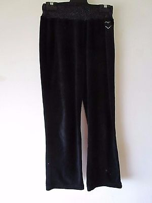 Girls Pink Sugar black velour pants  Size 8