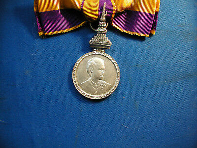 Thailand Medal For The Elevation Of Crown Princess Sirindhorn, On A Lady's Bow