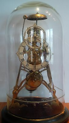 Rare Antique Skeleton Clock
