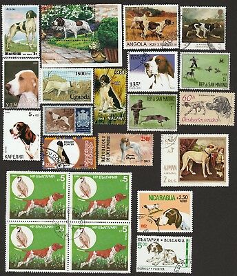POINTER ** Int'l Dog Postage Stamp Collection ** Unique Gift*