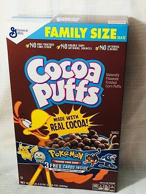 General Mills Cocoa Puffs Sun and Moon Pokemon Cards Box Sealed