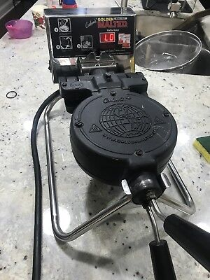 Carbon's Golden Malted Rugged Commercial Grade Waffle Iron Maker